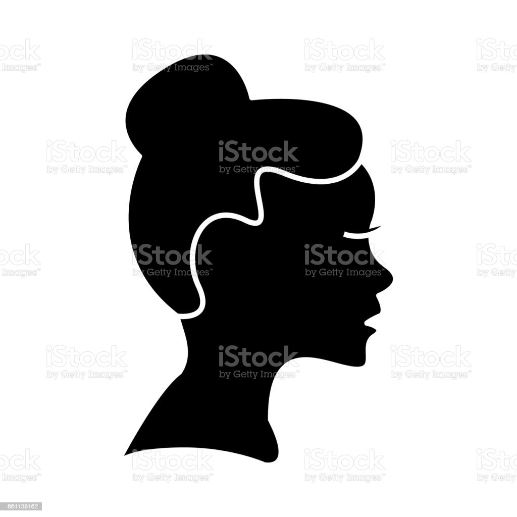 woman profile  icon, vector illustration, sign on isolated background royalty-free woman profile icon vector illustration sign on isolated background stock vector art & more images of adult