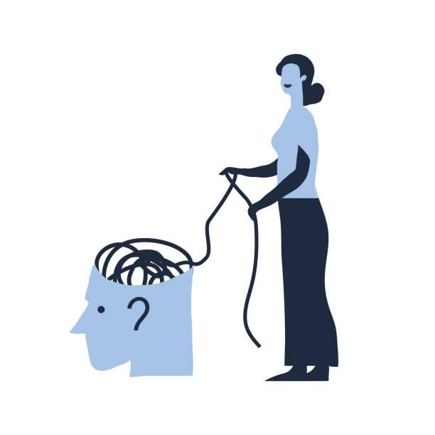 Woman psychologist vector art illustration
