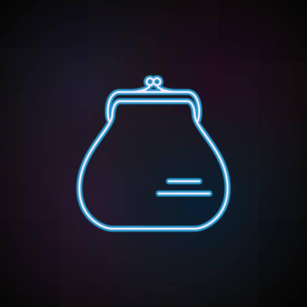 frau handtasche symbol in neon-stil. eine frau accessoires kollektion symbol kann für ux-benutzeroberfläche verwendet werden - neonhosen stock-grafiken, -clipart, -cartoons und -symbole