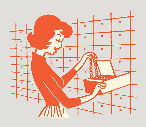 Woman Putting Necklace in Safety Deposit Box http://csaimages.com/images/istockprofile/csa_vector_dsp.jpg safety deposit box stock illustrations
