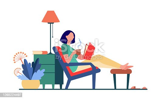 istock Woman relaxing at home 1265224497