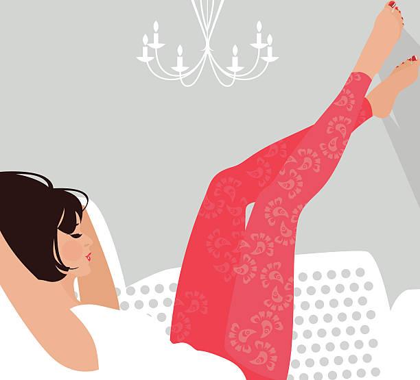 Kobieta relaksu. – artystyczna grafika wektorowa