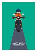woman riding scooter, safety riding
