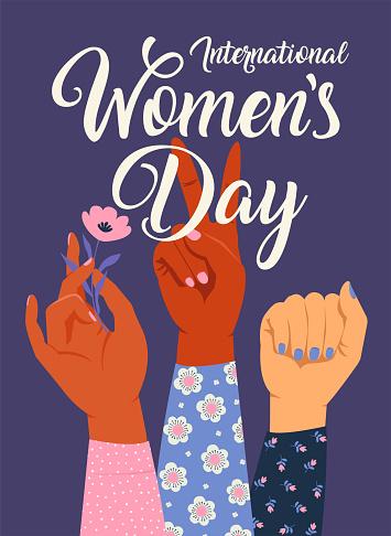 여자의 손을 올려 그녀의 주먹으로 소녀 파워입니다 페미니즘 개념입니다 핑크색 파스텔 고트 색상 흰색 절연 현실적인 스타일 벡터 일러스트 스티커 패치 그래픽 디자인입니다 3 명에 대한 스톡 벡터 아트 및 기타 이미지