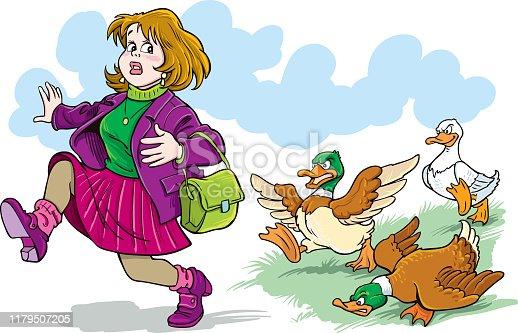 istock A woman scared to run. 1179507205