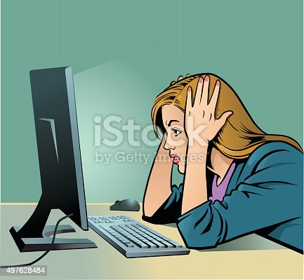 istock Woman Screaming at Computer - Business 497628484