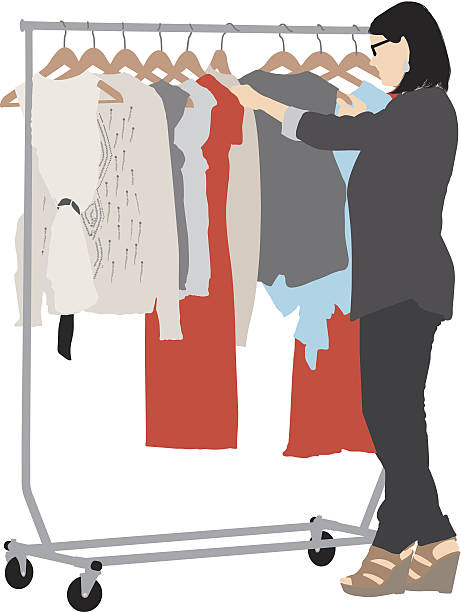 Royalty Free Clothes Rack Clip Art, Vector Images ...