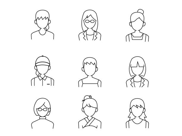ウーマンセット1 - 主婦 日本人点のイラスト素材/クリップアート素材/マンガ素材/アイコン素材