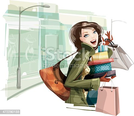 istock Woman Shopping Presents 472290133