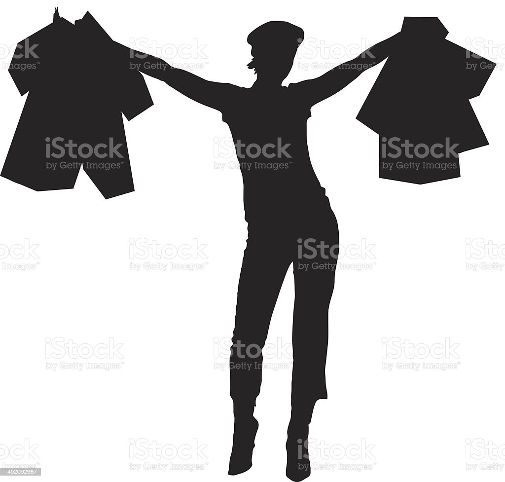 Woman shopping silhouette royalty-free stock vector art