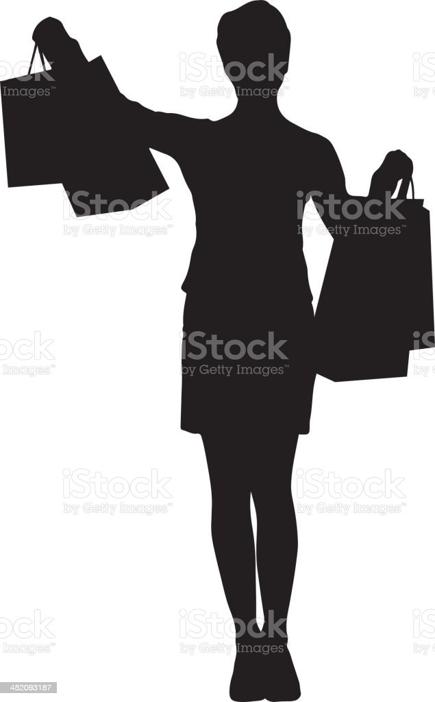 Woman shopping silhouette royalty-free woman shopping silhouette stock vector art & more images of adult