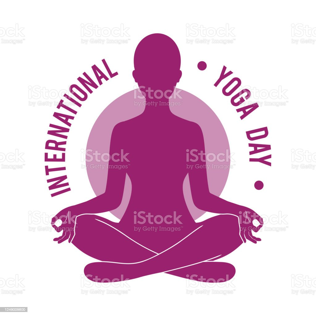 Woman Silhouette Sitting In Lotus Pose Of Yoga International Yoga Day Illustration For Yoga Meditation Relax Recreation Healthy Lifestyle Stock Illustration Download Image Now Istock