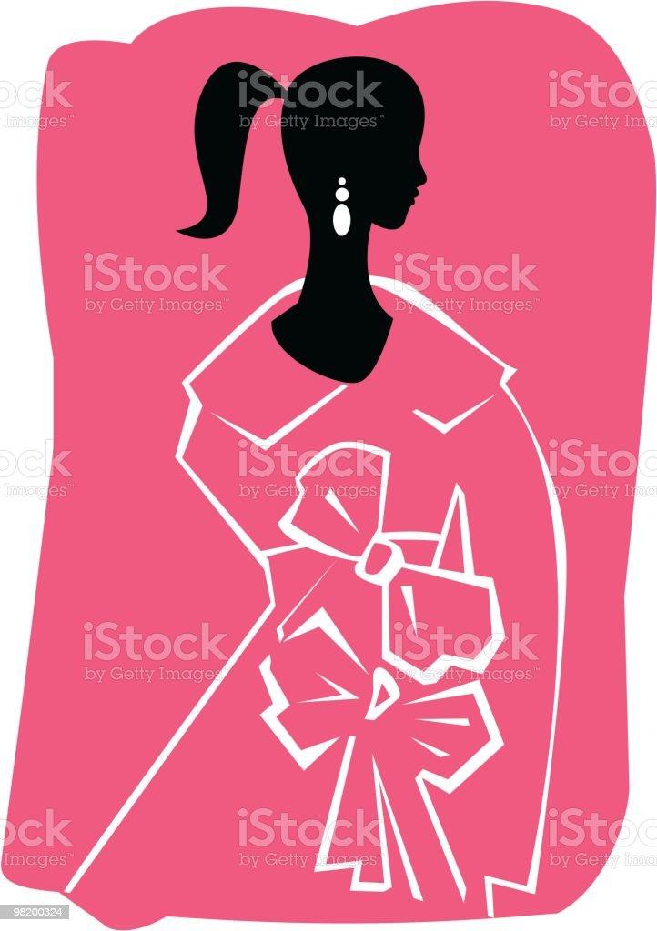 여자 실루엣 royalty-free 여자 실루엣 겨울 코트에 대한 스톡 벡터 아트 및 기타 이미지