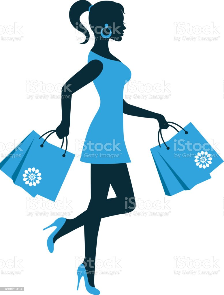 e891c75ec3a8 silhouette donna con lo shopping bag silhouette donna con lo shopping bag -  immagini vettoriali stock