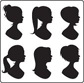 Women silhouettes. JPG and EPS. Vector.