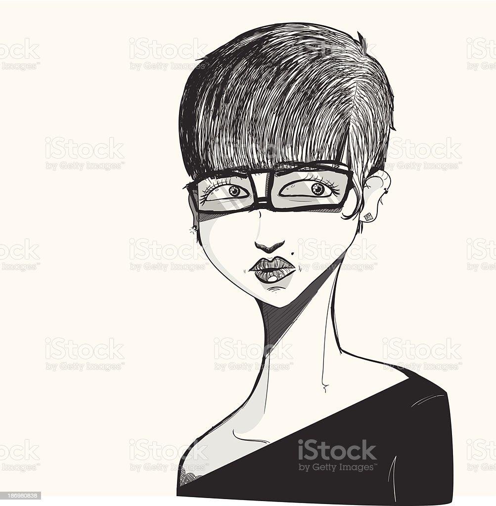 Frau Sketch Vektor Illustration 186980838   iStock