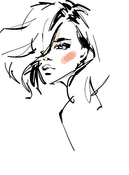 woman sketch - womens fashion stock illustrations
