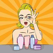 woman skincare problem
