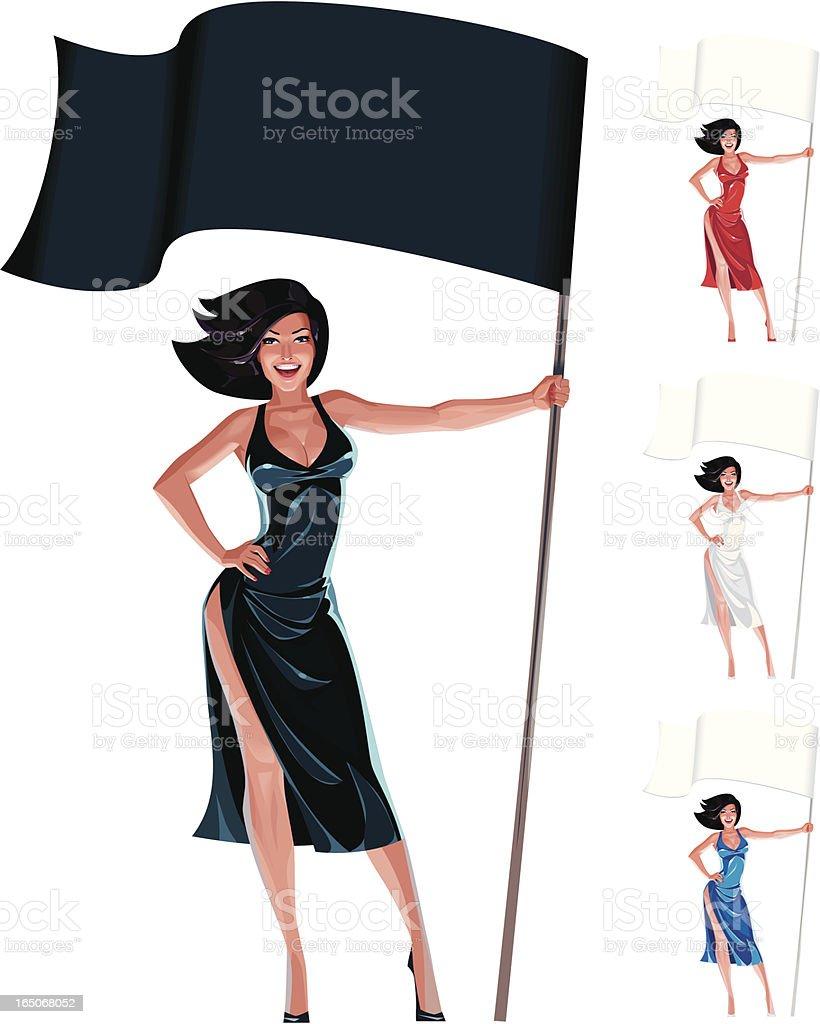 woman standard-bearer royalty-free woman standardbearer stock vector art & more images of adult