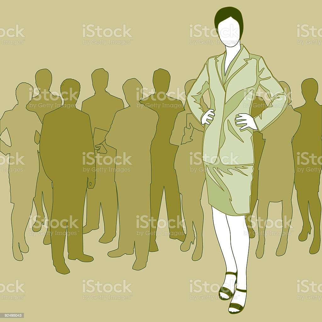 Woman Standing in Waiting Line royalty-free woman standing in waiting line stock vector art & more images of adult