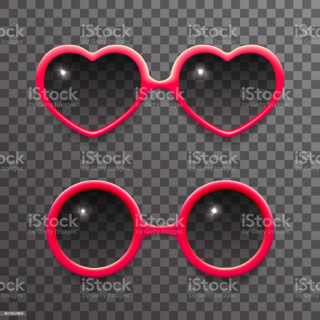 Frau Sonne Brille stilvolle isoliert 3d realistisch Mode Mock-up transparenten Hintergrund Design Vektor-illustration – Vektorgrafik