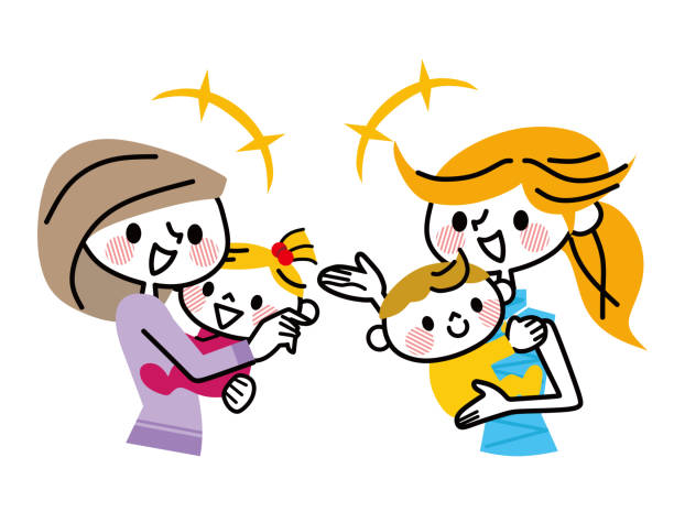 Royalty Free Parent And Child Talking Clip Art, Vector ...