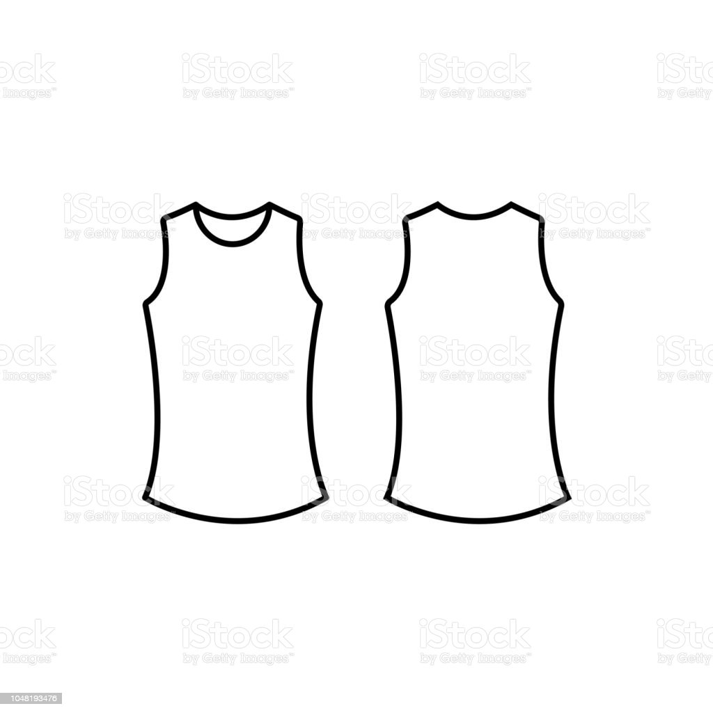 Woman Tank Top Blank Template Vector Stock Vector Art More Images