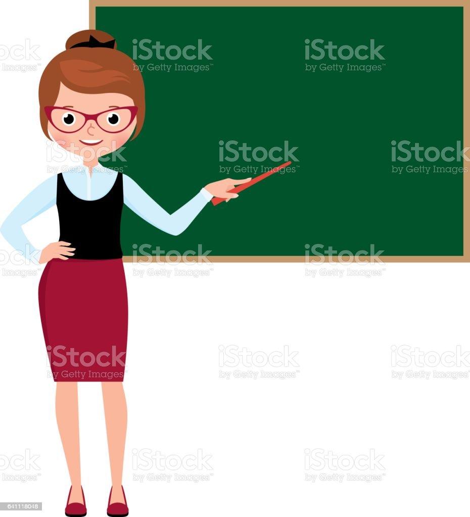 royalty free teacher blackboard clip art vector images rh istockphoto com clipart teachers and students clip art teacher and student