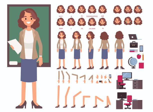 ilustrações, clipart, desenhos animados e ícones de mulher professora - professor