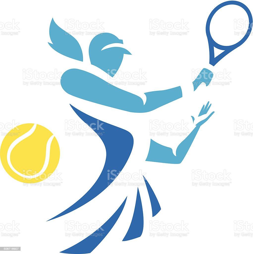 女性テニス ベクターアートイラスト