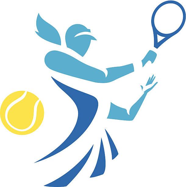 woman tennis - tennis stock illustrations, clip art, cartoons, & icons