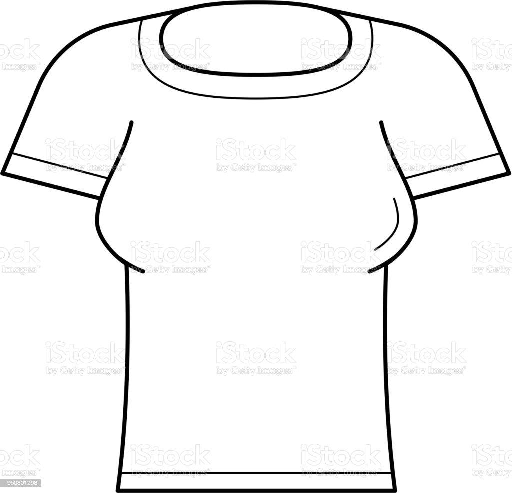 De Vecteurs Icône Tshirt Ligne Serré Libres Vecteur Femme Droits dBeQxWoCrE