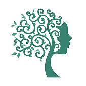 woman swirls tree