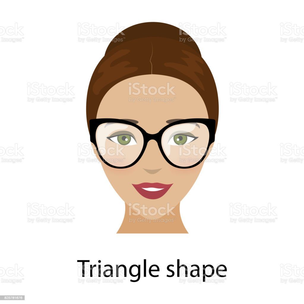 Tremendous Woman Triangle Face Shape Stock Illustration Download Image Now Natural Hairstyles Runnerswayorg