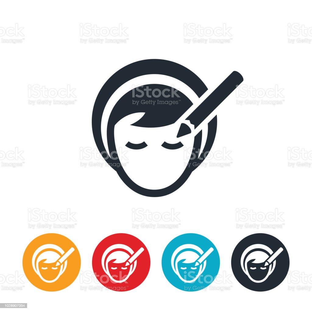 Woman Using Eye Pencil Icon vector art illustration