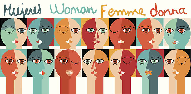 Woman Woman-Concept. Very easy to manipulate, elements are on a different layers. women's suffrage stock illustrations