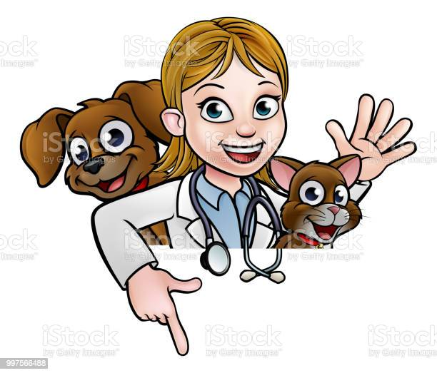 Woman vet cartoon character pointing sign vector id997566488?b=1&k=6&m=997566488&s=612x612&h=hjirk 7n2jggvnn2ciace6phfxm8jo37fjpgrkzazy4=