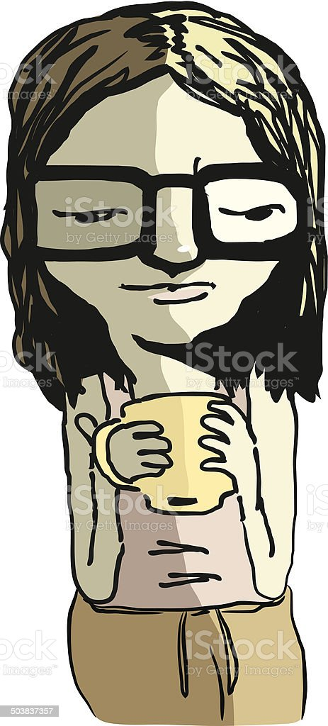Woman Waking Up royalty-free stock vector art
