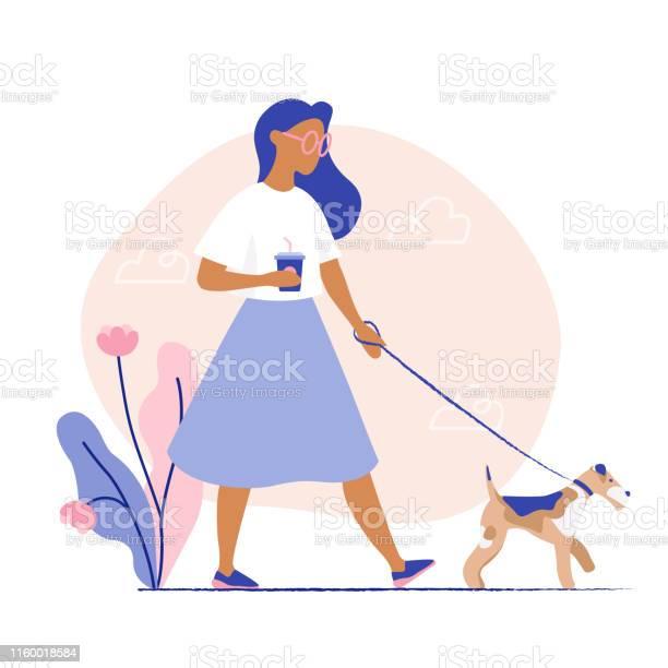 Woman walking the dog woman with her pet vector id1160018584?b=1&k=6&m=1160018584&s=612x612&h=gsvcqarofpuyovgv dvvonhecf0dwqrecsgj7zh0dya=