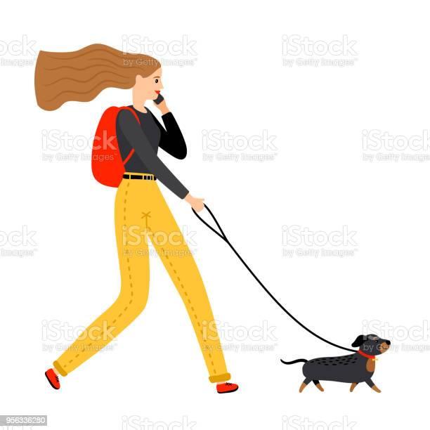 Woman walking with dog vector id956336280?b=1&k=6&m=956336280&s=612x612&h=ghaw5hx g7bssumlsjqb0y3fkosawdstodsgxpqbo0e=
