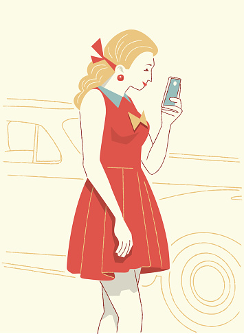 Woman Watching the Cell Phone