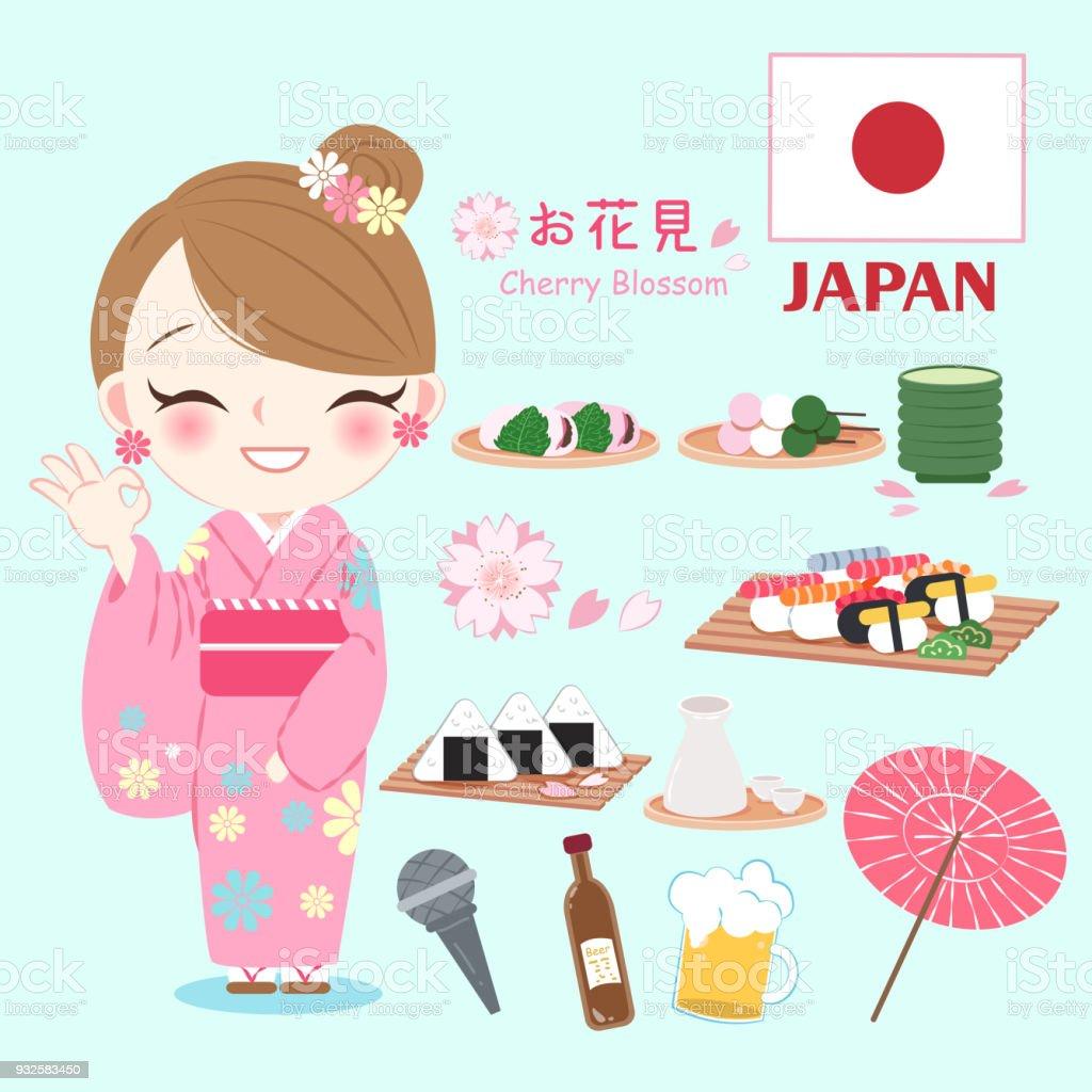 Ilustración de Kimono De Ropa De Mujer y más banco de imágenes de ...