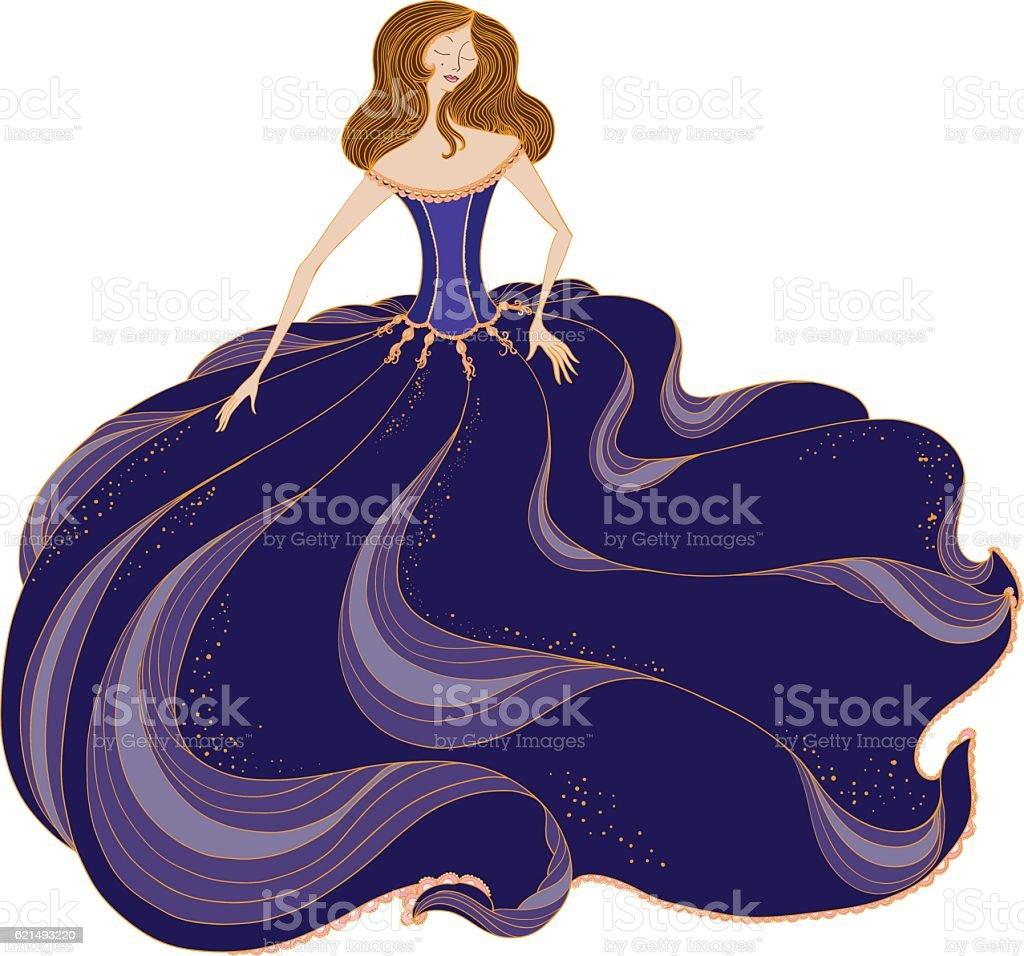 woman wearing a ballgown woman wearing a ballgown – cliparts vectoriels et plus d'images de adulte libre de droits