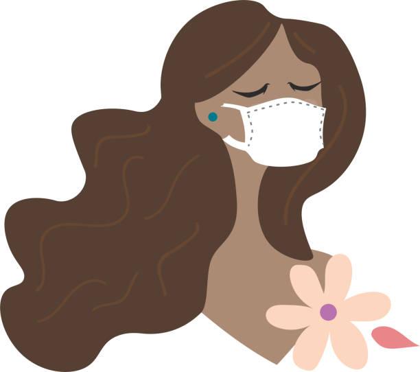 ilustrações de stock, clip art, desenhos animados e ícones de woman wearing protective mask - afro latino mask