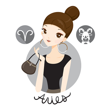 Woman With Aries Zodiac Sign