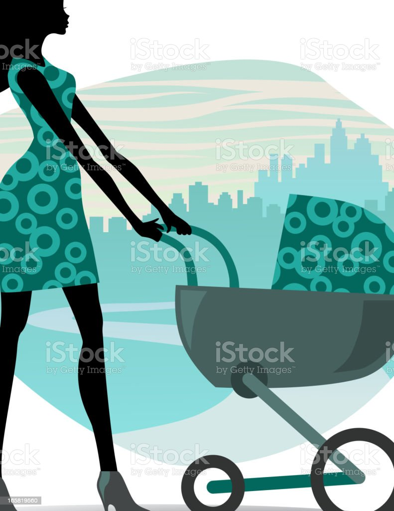 Woman with baby royalty-free stock vector art
