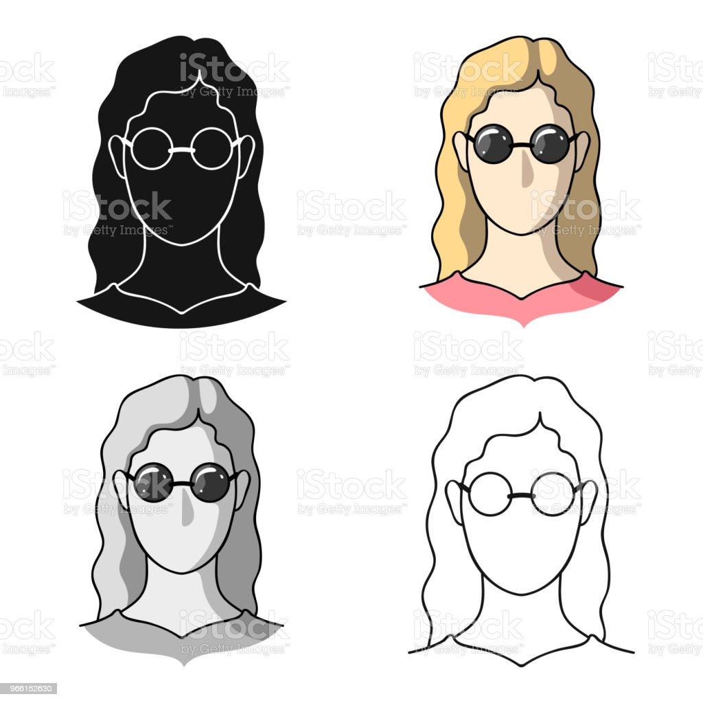 En kvinna med blont hår med glasögon. En blind kvinna på grund av diabetes. Diabetes enda ikon i tecknad stil vektor symbol lager web illustration. - Royaltyfri Blindhet vektorgrafik