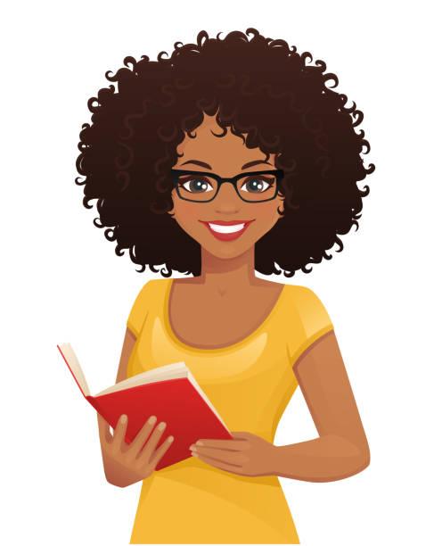 Black Woman Reading Illustrations, Royalty-Free Vector Graphics ...