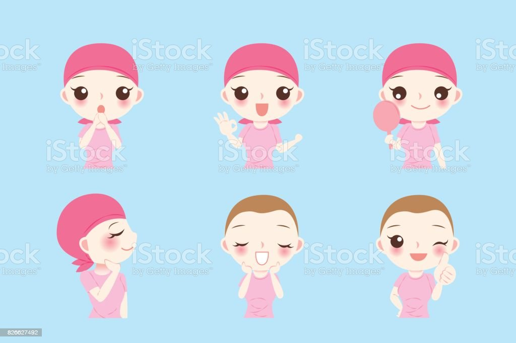 woman with cancer chemotherapy vector art illustration