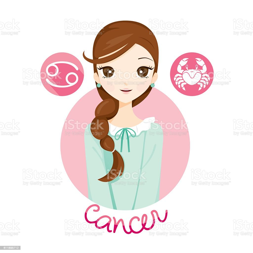 Woman with cancer zodiac sign stock vector art more images of woman with cancer zodiac sign royalty free woman with cancer zodiac sign stock vector art biocorpaavc Gallery